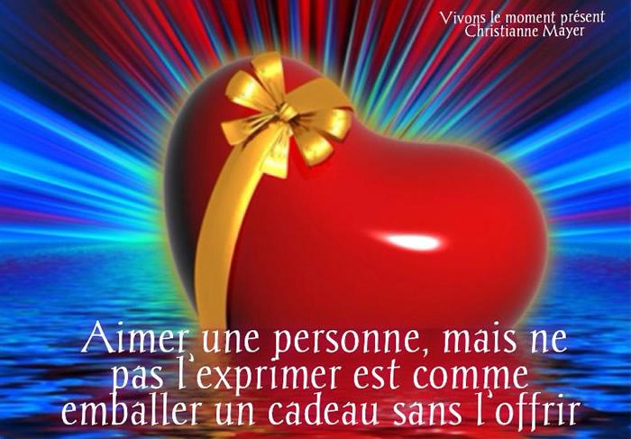 Aimer une personne, mais ne pas l'exprimer est comme emballer un cadeau sans l'offrir