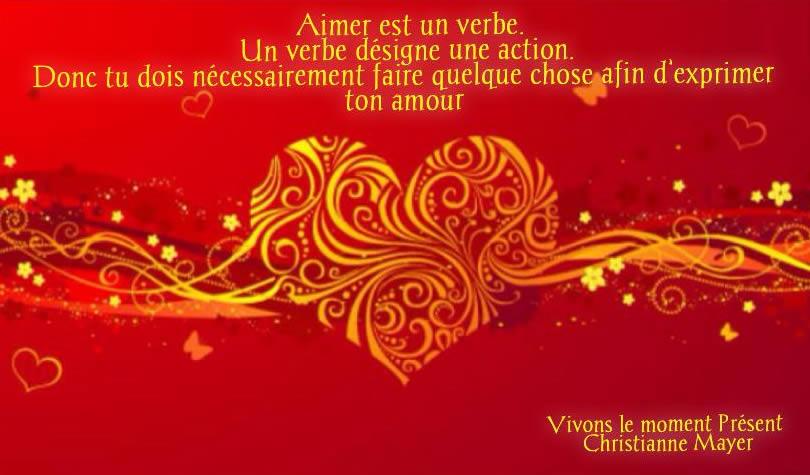 Aimer est un verbe. Un verbe désigne une action.
