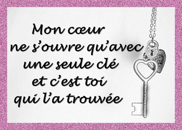 Mon cœur ne s'ouvre qu'avec une seule clé...