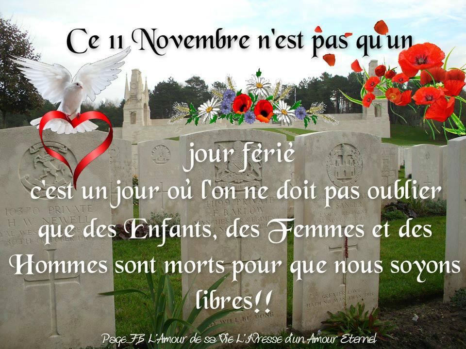 Ce 11 Novembre n'est pas qu'un jour férié...