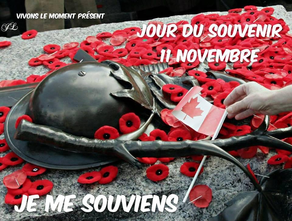 Jour de Souvenir 11 Novembre. Je me souviens
