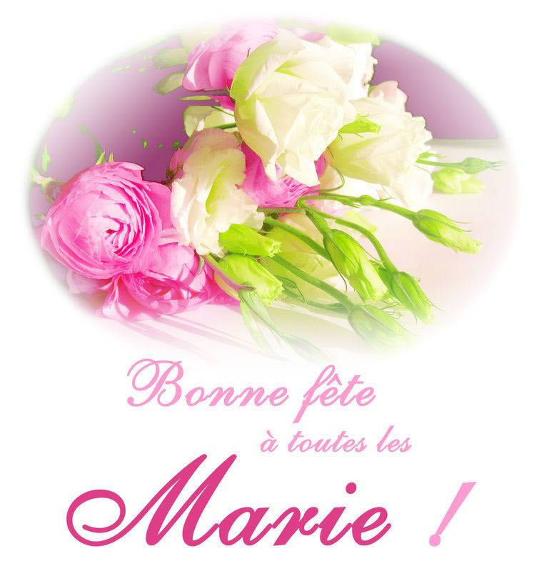 Bonne fête à toutes les Marie!