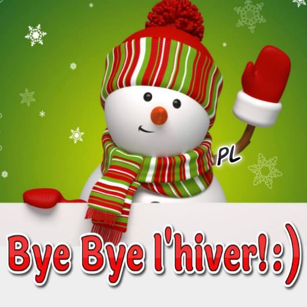 Bye Bye l'hiver ! :)