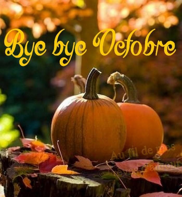 Bye bye Octobre