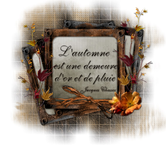 L'automne est une demeure d'or et de...