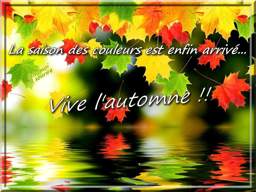 La saison des couleurs est enfin arrivé... Vive l'automne!!