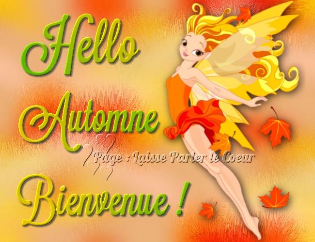 Hello Automne, Bienvenue!
