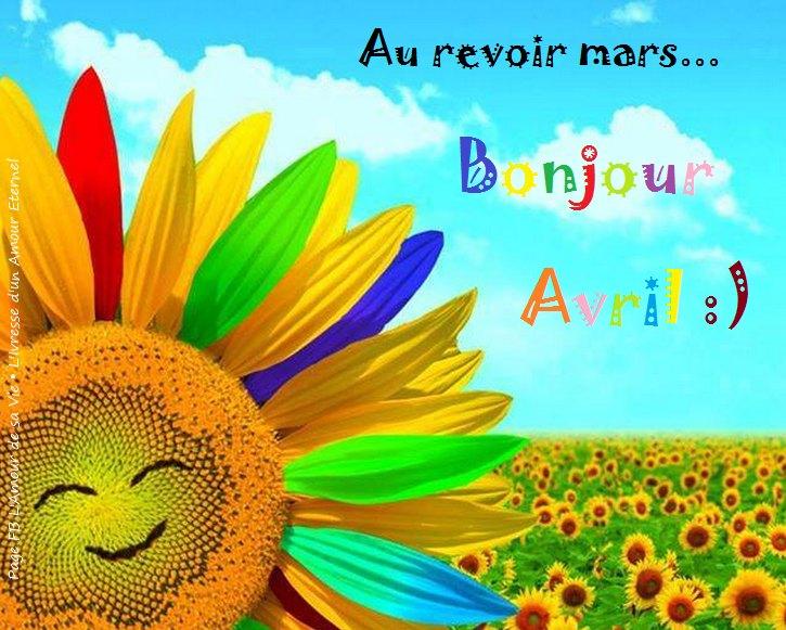 Au revoir mars... Bonjour Avril :)