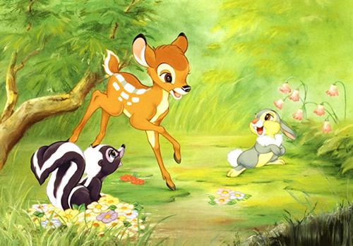 Bambi et ses amis gambadent