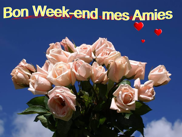 Bon week-end mes Amies