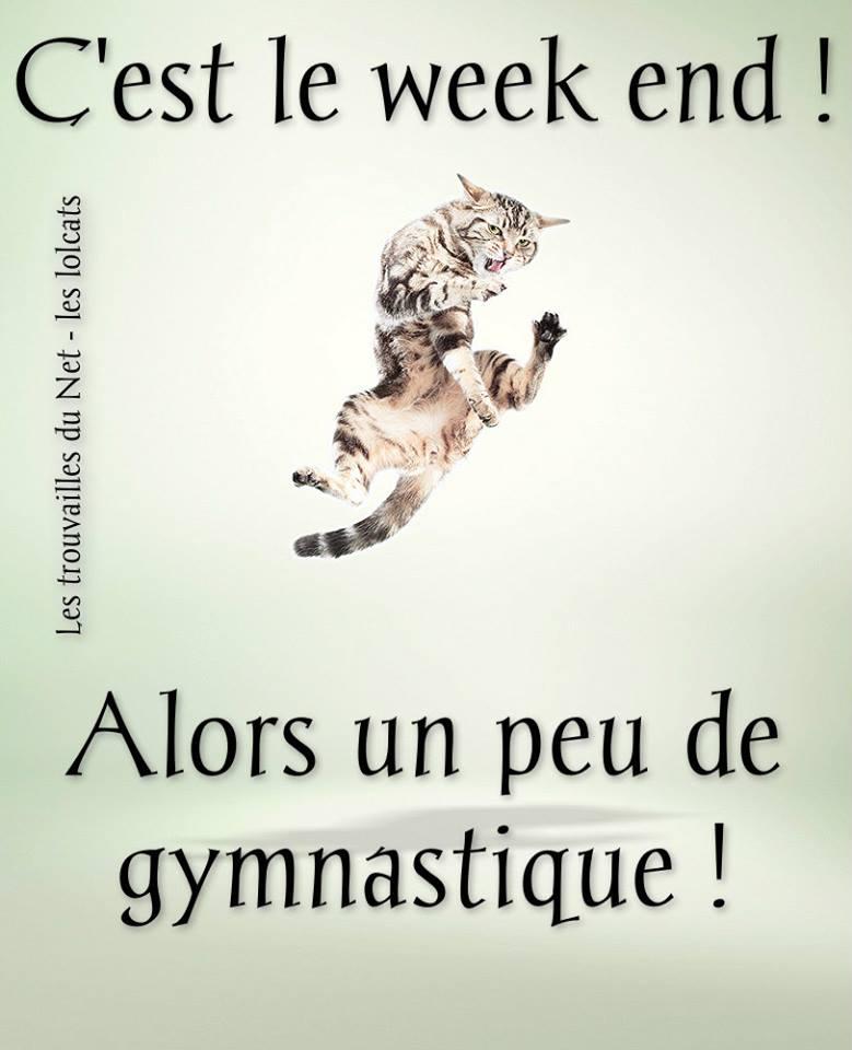 C'est le week end! Alors un peu de gymnastique !