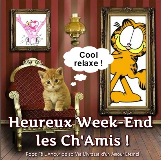Heureux Week-end les Ch'Amis ! Cool relaxe !