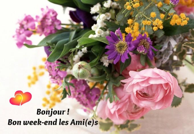 Bonjour ! Bon week-end les Ami(e)s