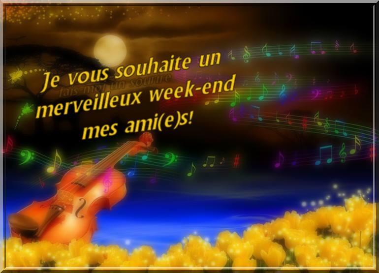 Je vous souhaite un merveilleux week-end mes ami(e)s!