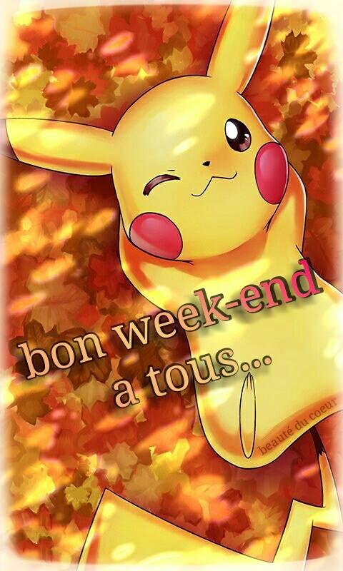 Bon week-end à tous...