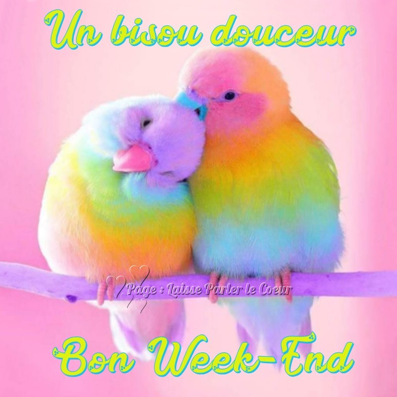 Un bisou douceur. Bon Week-End.