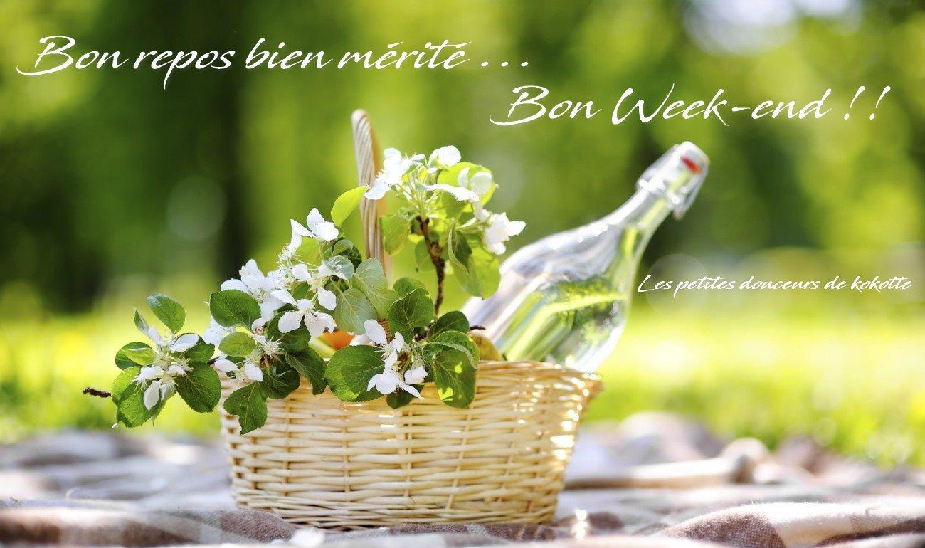 Bon repos bien mérité... Bon Week-end!