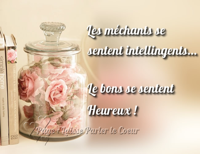Les méchants se sentent intelligents...