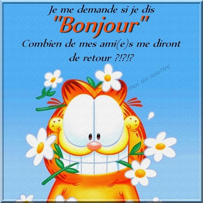 """Connu Je me demande si je dis """"Bonjour"""" image #6785 - BonnesImages NH58"""