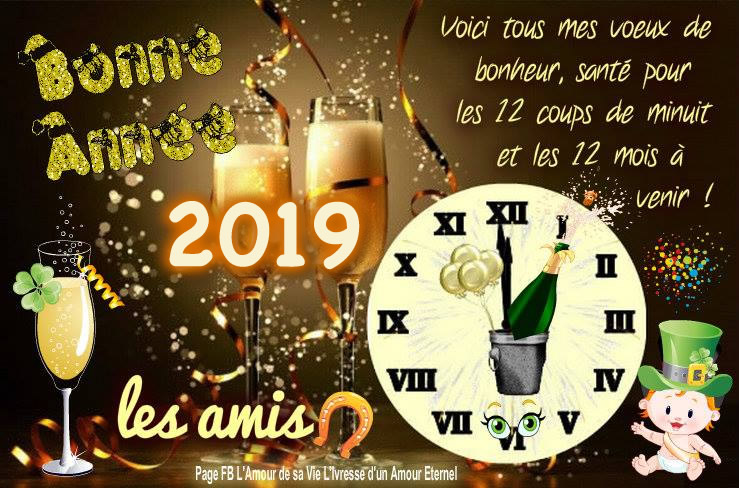 images pour facebook Bonne Année 2019