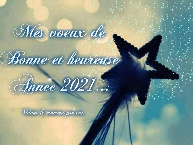 Mes voeux de Bonne et heureuse Année 2021