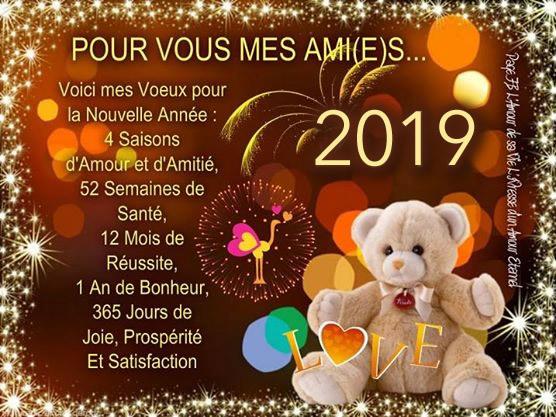 Voici mes voeux pour la nouvelle année...