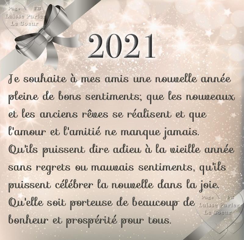 2021. Je souhaite à mes amis une...