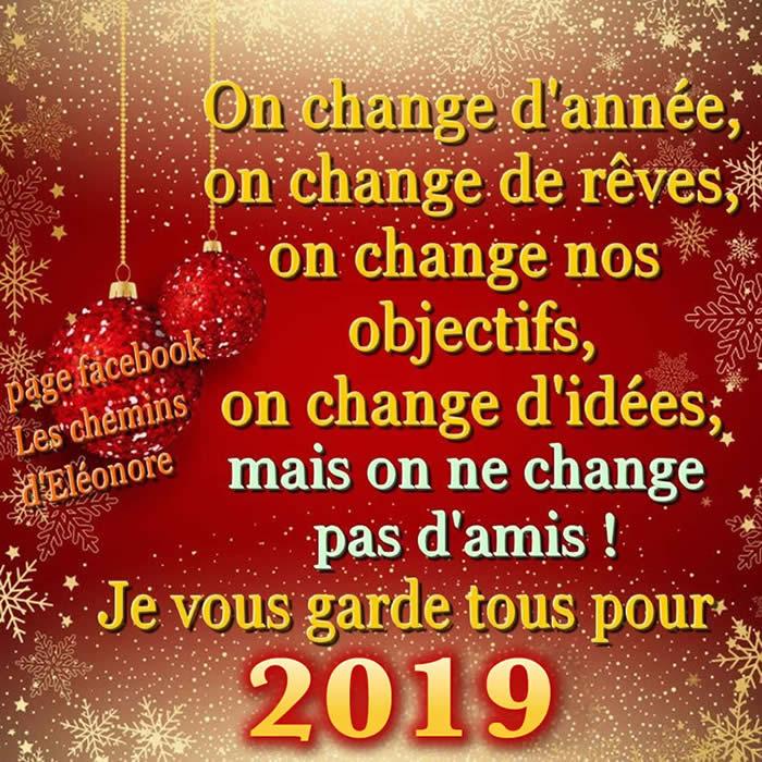 On change d'année, on change dé rêves...