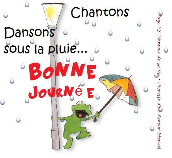 Dansons, Chantons sous la pluie... Bonne journée