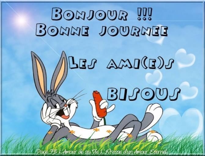 Bonjour ! Bonne journée les ami(e)s, bisous