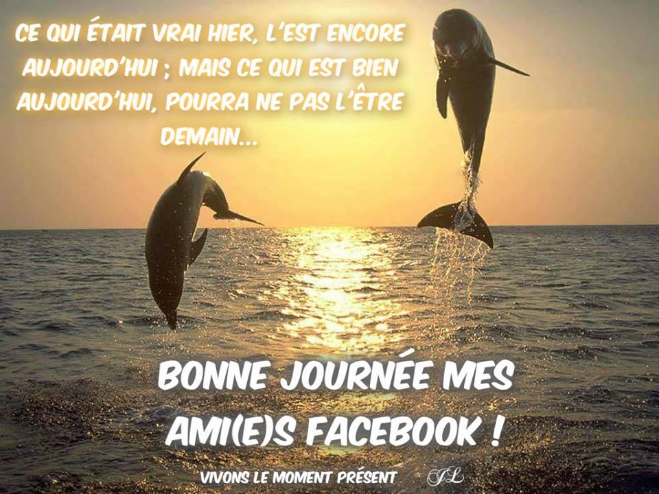Bonne journée mes ami(e)s Facebook !