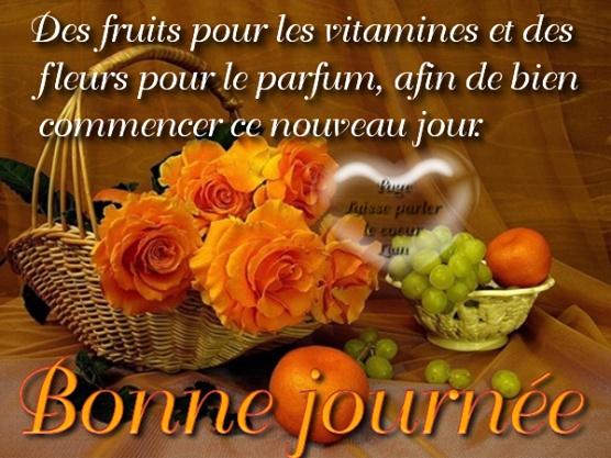 Des fruits pour les vitamines et des fleurs pour le parfum