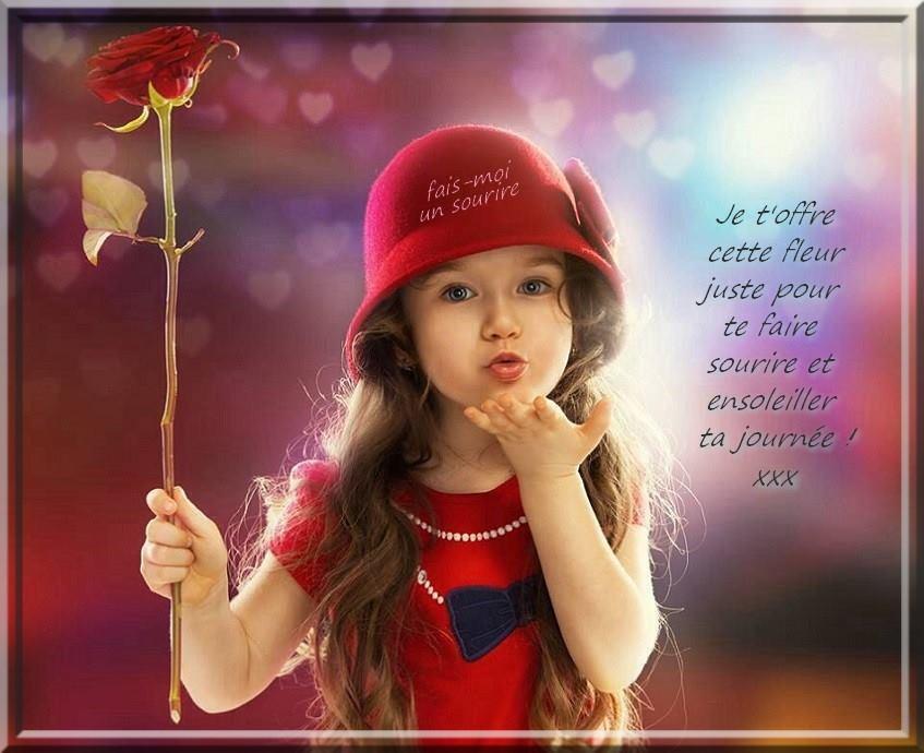 Je t'offre cette fleur juste pour te faire sourire ...
