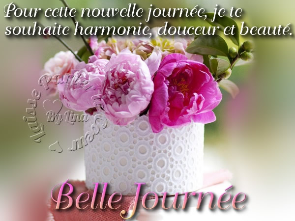 Pour cette nouvelle journée, je te souhaite harmonie, douceur et beauté