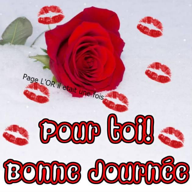 Pour toi! Bonne journée
