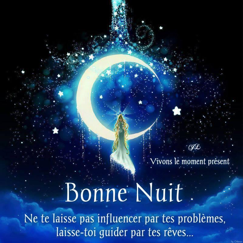 Bonne Nuit. Ne te laisse pas influencer par tes problèmes, laisse-toi guider par tes rêves