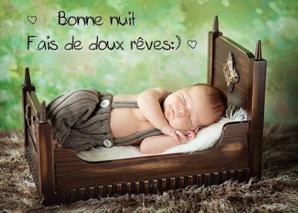 Bonne nuit. Fais de doux rêves :)