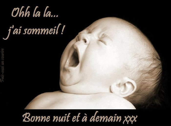 Ooh la la... j'ai sommeil! Bonne nuit et...