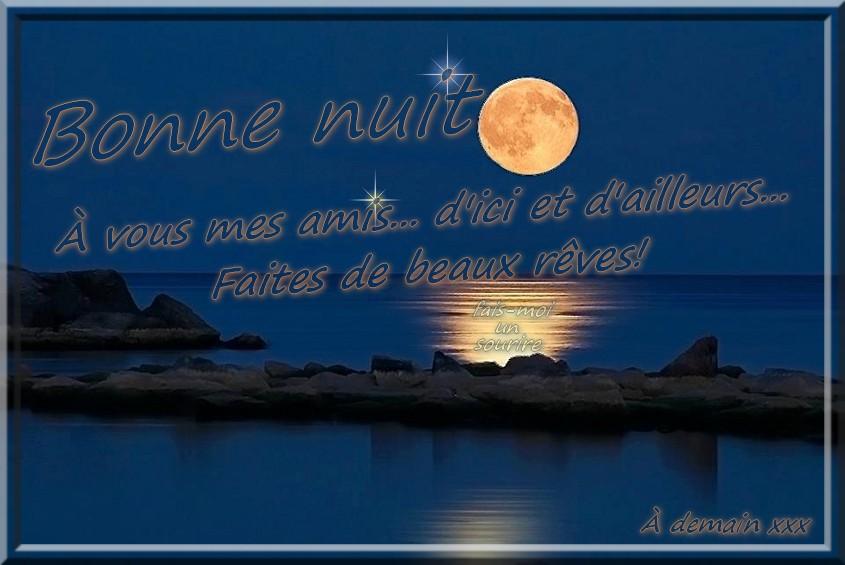 Bonne nuit, faites de beaux rêves!