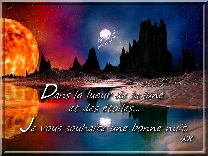 Dans la lueur de la lune et des étoiles... Je vous souhaite une bonne nuit xx