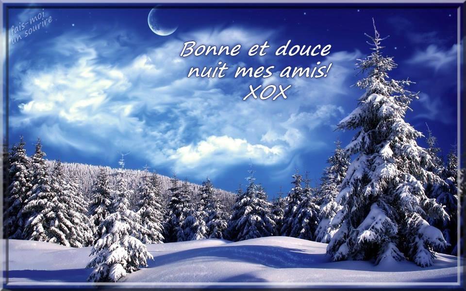 Bonne et douce nuit mes amis! xox