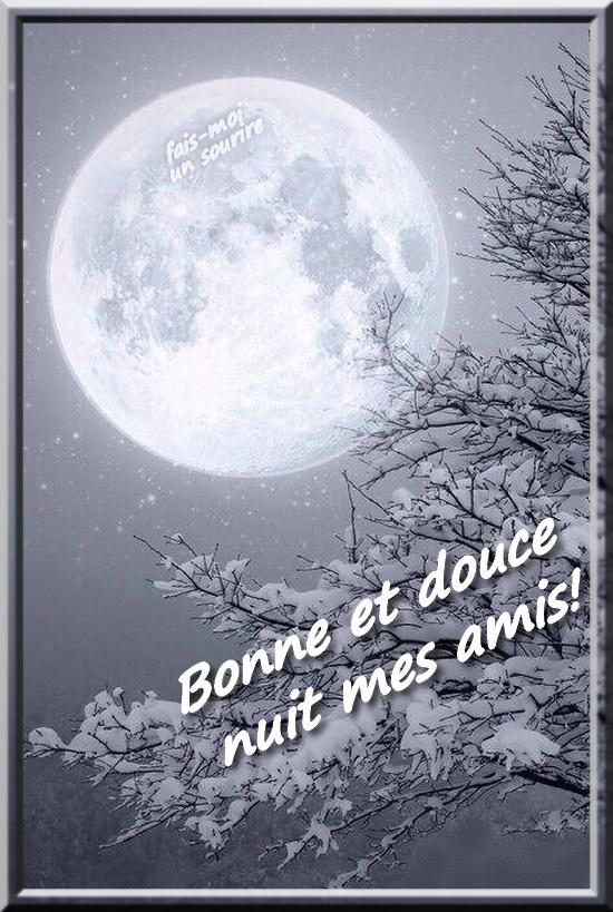 Bonne et douce nuit mes amis!
