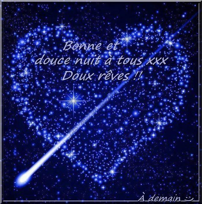 Bonne et douce nuit à tous xxx Doux rêves !! À demain :)