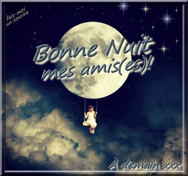 Bonne nuit mes ami(es)! À demain xxx