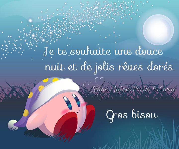 Je te souhaite une douce nuit et de jolis rêves dorés