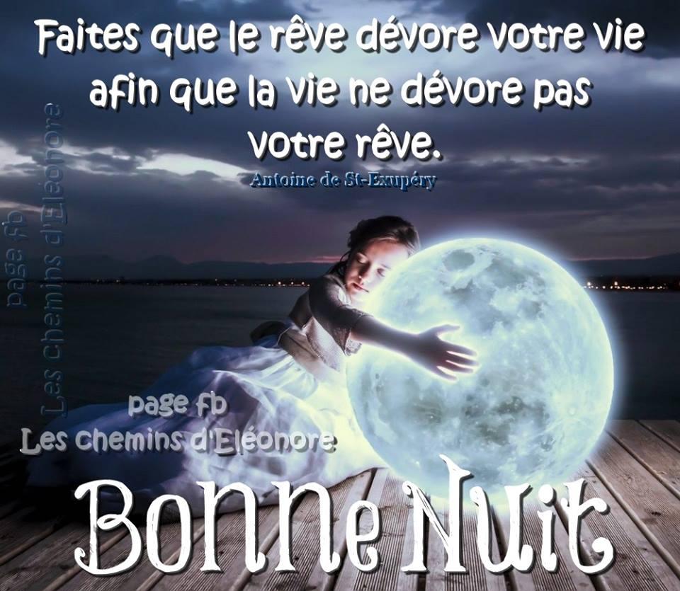 Faites que le rêve dévore votre vie... Bonne Nuit