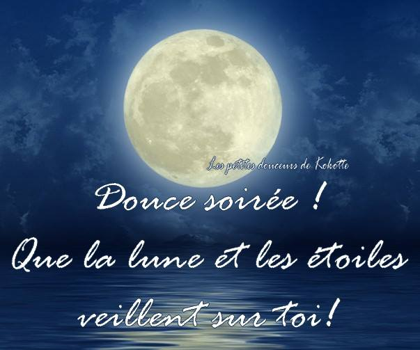 Douce soirée! Que la lune et les etoiles veillent sur toi!