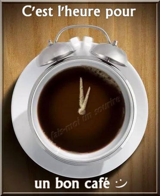 C'est l'heure pour un bon cafè