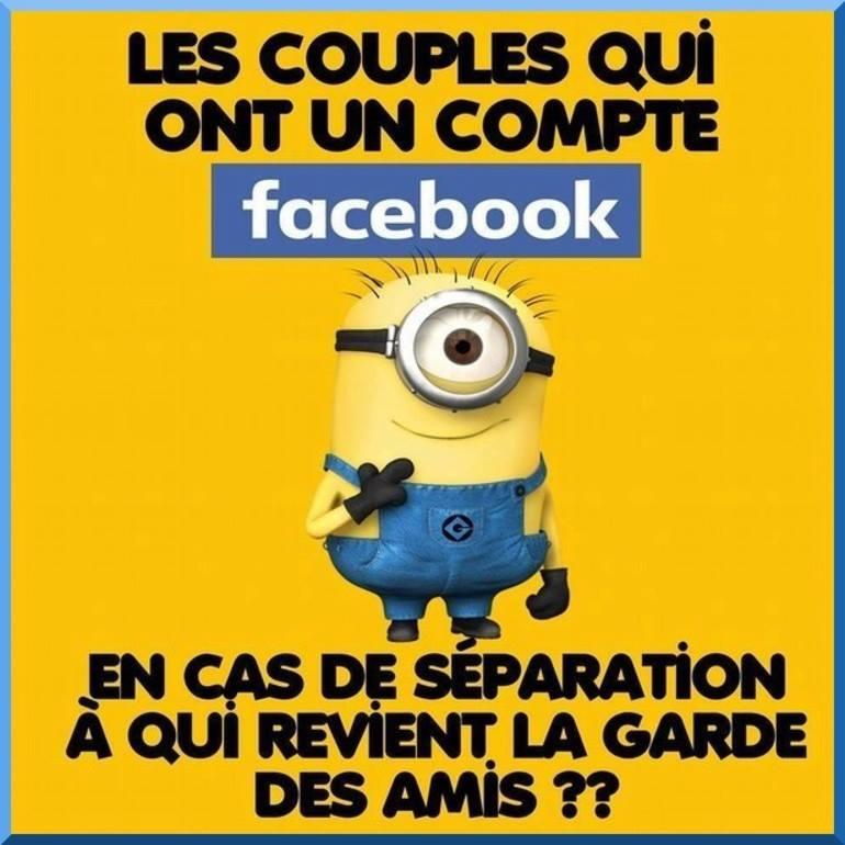 Les couples qui ont un compte facebook...
