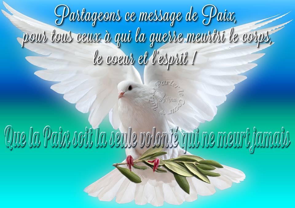 Partageons ce message de Paix...